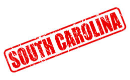 South carolina red stamp text Royalty Free Stock Photo