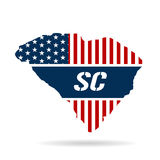 South Carolina Red, White and Blue Illustration Royalty Free Stock Photography