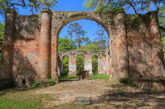 South Carolina Ruins Sheldon Church Royalty Free Stock Image