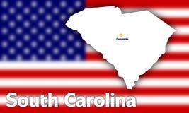 South Carolina state contour Stock Images