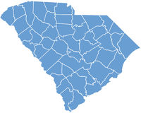 South Carolina State by counties Stock Photos