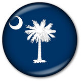 South Carolina State Flag Button Royalty Free Stock Image