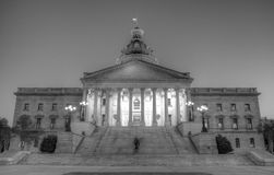 South Carolina State House. Shot at night with a wide angle lens Stock Photo