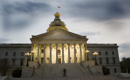 South Carolina State House. In Columbia at night Royalty Free Stock Image