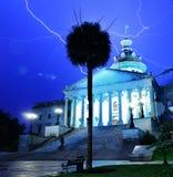 South Carolina State House. Lightning strikes above South Carolina State House in Columbia, South Carolina, USA Royalty Free Stock Images