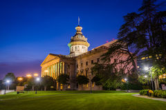 The South Carolina State House in at night, in Columbia, South C Royalty Free Stock Images