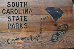 South Carolina State Parks wooden sign Stock Image