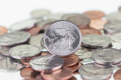 South Carolina State Quarter reverse extreme close up Royalty Free Stock Photo