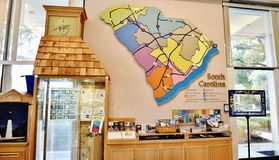 South carolina state usa visitor center map and exibit Royalty Free Stock Photos