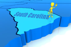 South Carolina state yellow stick figure Stock Photos
