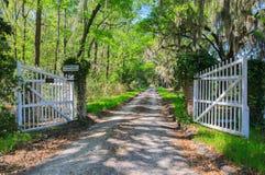 South Carolina Tomotley Plantation Gates Road Royalty Free Stock Photo