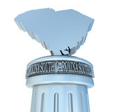 South Carolina Tribute. 3D rendered scene with podium Stock Photography