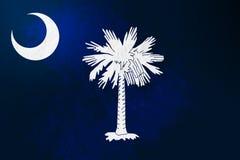 South- Carolinaflaggenhintergrund-Schmutzbeschaffenheit lizenzfreie abbildung