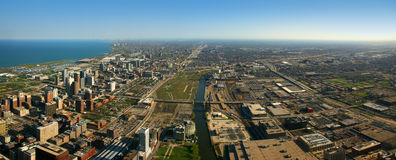 South Chicago aerial view Stock Photos