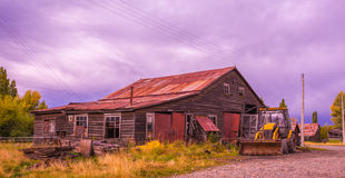 South Chile Architecture. Aysen region stock photo