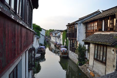 South china village. Region of rivers and lakes stock images