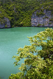 south china sea abstract of a green lagoon and water Stock Photography