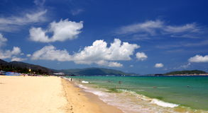 South China Sea Beach, Hainan; Sanya, Yalong Bay, may 2011 Royalty Free Stock Image