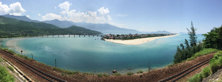 South China Sea coastline in Lang Co, Hue Royalty Free Stock Photography