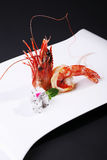 The South China Sea prawns four head Royalty Free Stock Photo
