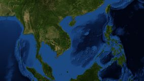 South China Sea from space - slow zoom