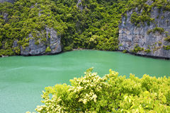 South china sea thailand kh  lagoon and water Stock Photo