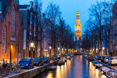 South Church Zuiderkerk Amsterdam at dusk Stock Photography