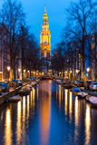 South Church Zuiderkerk Amsterdam at dusk Royalty Free Stock Image