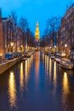 South Church Zuiderkerk Amsterdam at dusk Stock Photos