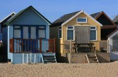 South Coast Beach Huts. Beach huts on the Dorset coast on the South Coast of England Stock Image