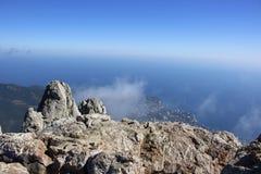 Battlements of Mount Ai-Petri, Crimea. The south coast of Crimea. Battlements of Mount Ai-Petri, Crimea stock photos