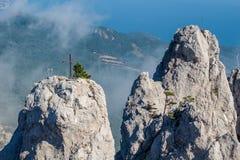 Battlements of Mount Ai-Petri, Crimea. The south coast of Crimea. Battlements of Mount Ai-Petri, Crimea royalty free stock photography