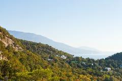 South Coast of Crimea and slope of khrestova mount Royalty Free Stock Photos