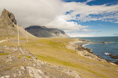 South coast of Iceland. Hvalnes. Royalty Free Stock Photography
