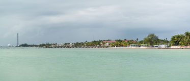 South coast Key West panorama, Florida. South coast of Key West with Higgs Beach from White Street Fishing Pier, Florida Keys, USA Stock Photos