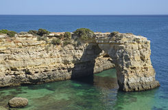 The South coast of Portugal near Portimao Royalty Free Stock Photo