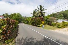 South Coast Road, Mahe, Seychelles Royalty Free Stock Photography