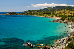 South coast of Sardinia Royalty Free Stock Photo