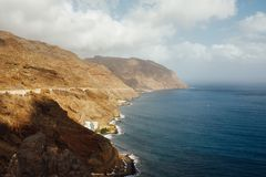 South coast of Tenerife island. And Atlantic ocean Royalty Free Stock Images