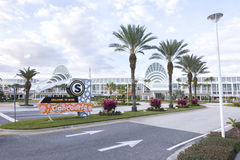 South concourse of Orange County Convention Center in Orlando, F. ORLANDO, USA - FEBRUARY 21, 2016: The south concourse of the Orange County Convention Center is stock photos