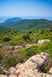 South Corsica, vertical coastal landscape with cape Royalty Free Stock Images