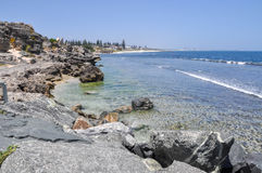 South Cottesloe Beach: Limestone Edges royalty free stock photography