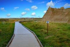 South- Dakotaödländer nähern sich Kieferridge-indischer Reservierung Stockfotografie