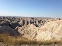 South- Dakotaödländer nähern sich Kieferridge-indischer Reservierung Stockfoto