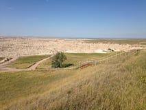 South- Dakotaödländer nähern sich Kieferridge-indischer Reservierung Lizenzfreie Stockfotografie