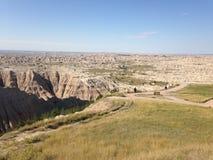 South- Dakotaödländer nähern sich Kieferridge-indischer Reservierung Lizenzfreie Stockfotos