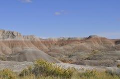 South- Dakotaödländer nähern sich Kieferridge-indischer Reservierung Lizenzfreies Stockbild