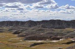 South- Dakotaödländer nähern sich Kieferridge-indischer Reservierung Stockbild