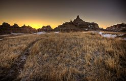 South Dakota Badlands. USA Landscape Royalty Free Stock Photos