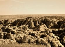 South Dakota Badlands Stock Photo